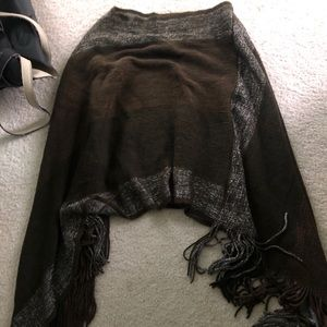 Forever 21 Olive Knit Poncho